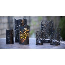 Vineyard Iron Candle Holders - Holders Only (Candles not included)(Quantity discount 24 or more call)