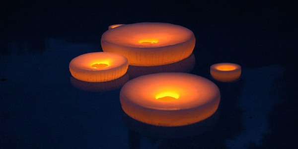 "Floating Flameless LED Pool Candles 14"" diameter (Quantity discount 12 or more call)"