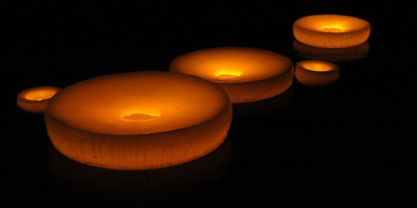 "Floating Flameless LED Pool Candles 6"" diameter (Quantity discount 48 or more call)"