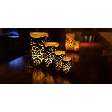 "Vineyard Iron Candle Holders & Candles, 6"" Diameter (Candle Included)(Quantity discount 12 or more call)"