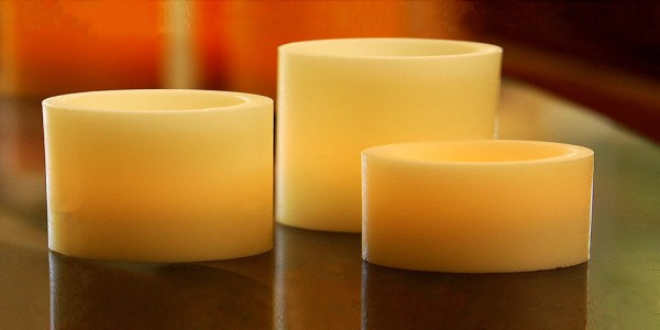 "Flameless LED Candles / Timer or Remote Control options (8"" diameter by 4.5"" or 7"" or 9"" or 12"" Tall)(Bulk Discounts)"