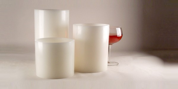 "Platinum Rechargeable Smart Candle System 10500 Hours Lifespan 12 to 48 pack (4"" Diameter Round Wax Luminaries Included)"