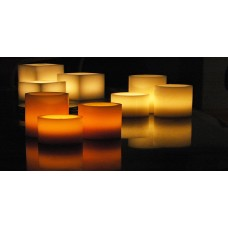 "Flameless LED Candles / Timer or Remote Control options (10"" diameter by 5.5"" or 8"" or 10"" Tall)(Quantity discount 6 or more call)"