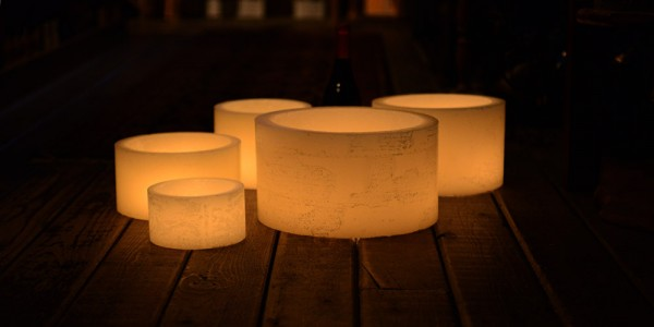 "Hollow Candles Wax Luminaries (5.5"" diameter by 4.5"", 7"" and/or 8.5"" Tall)(bulk Discounts)"