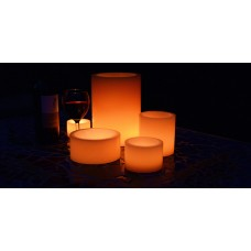 "Flameless LED Candles / Timer or Remote Control options (4"" diameter by 4"" or 5.5"" or 7"" Tall)(Bulk Discounts)"