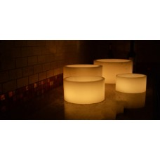 "Flameless LED Candles / Timer or Remote Control options (12"" diameter by 6"" or 12"" or 18"" tall) (Bulk Discounts)"