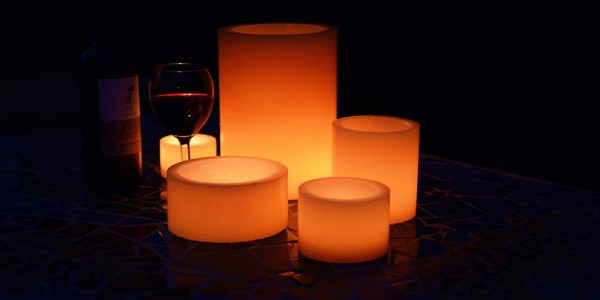 "Flameless LED Candles / Timer or Remote Control options (4"" diameter by 4"" or 5.5"" or 7"" Tall)(as low as $9.38)"