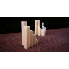 "Hollow Candles Wax Luminaries (8"" wide by 15"", 18"" and 24"" Tall)(quantity discount 6 or more call)"