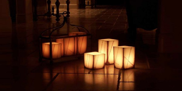 "Flameless LED Candles With Oriental Line Design / Timer or Remote Control options (3"" wide by 3"", 4"", 5.5"" and/or 7"" tall)(Quantity discount 48 or more call)"