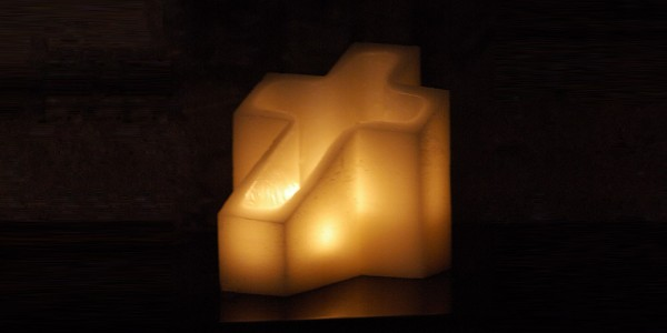 "Flameless LED Candles - Cross Shaped / Timer or Remote Control options (9"" by 12"" by 12"" tall)(Quantity discount 6 or more call)"