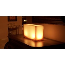 "Flameless LED Rectangle Candles With Oriental Line Design / Timer or Remote Control options (8"" by 5"" wide by 5.5"", 8"", 12"" and 15"" Tall)(Quantity discount 12 or more call)"