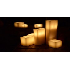"Hollow Candles Wax Luminaries Rectangle (11"" by 3"" wide by 8"" and 11"" Tall)(Quantity discount 12 or more call)"