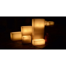 "Hollow Candles Wax Luminaries Rectangle (15"" by 6"" wide by 8"", 12"", 15"", 18"" and 22"" Tall)(Quantity discount 6 or more call)"
