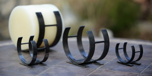 Horizontal Iron Candle Holders Set of 3 Sizes