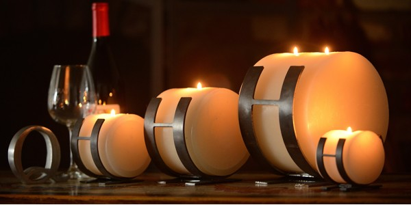 Horizontal Iron Candle Holders Set of 3 Sizes (Quantity discount 6 or more call)