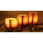 "Electric Hardwired Low Voltage LED 12 to 96 Candles System (5.5"" Wide Wax Luminaries With Oriental Design Included)"
