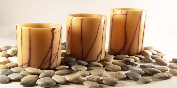 "Electric Hardwired Low Voltage LED Candles System (6 to 11 set)(5.5"" Diameter Oriental Design Wax Luminaries Included)"