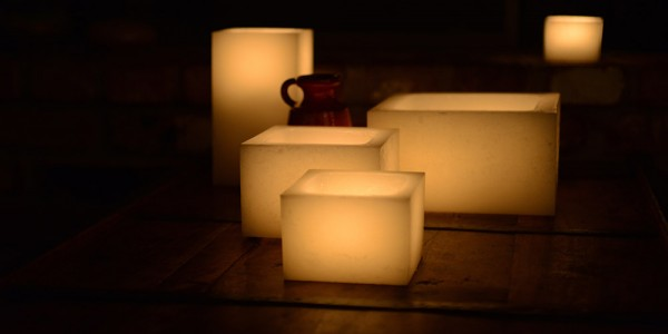 "Hollow Candles Wax Luminaries (3"" wide by 6"", 7"" and/or 8.5"" Tall) (Bulk Discounts)"