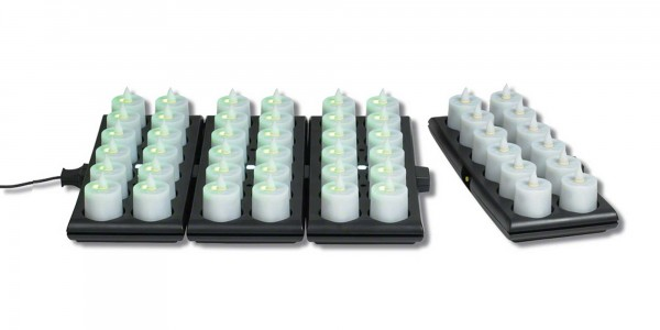 Rechargeable Candle System, Commercial Grade Evolution LED 14500 Hours lifespan for Indoor & Outdoor Use (12 to 48 pack)