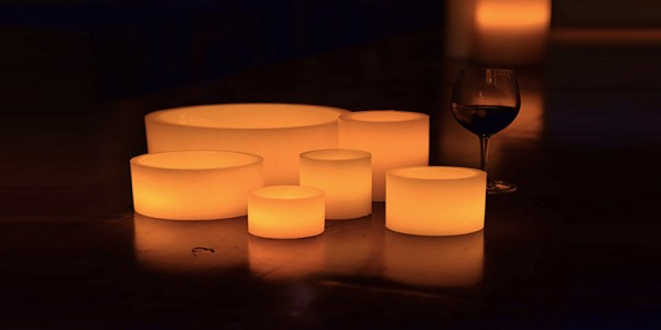 "Hollow Candles Wax Luminaries (4"" diameter by 4"", 5.5"" and/or 7"" Tall)(bulk Discounts)"