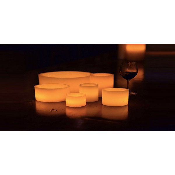 Hollow candles wax luminaries 4 diameter by 4 5 5 and for Reusable luminaries