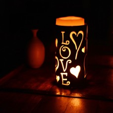 Iron Candle Holders Design 3.5 to 8 inches Diameter Love (Candles included)(Quantity discount 24 or more call)