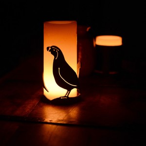 Iron Candle Holders Design 3.5 to 8 inches Diameter Bird (Candles included)(Quantity discount 24 or more call)