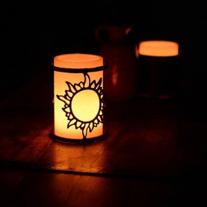 Iron Candle Holders Design 3.5 to 8 inches Diameter Sunshine (Candles included)(Quantity discount 24 or more call)