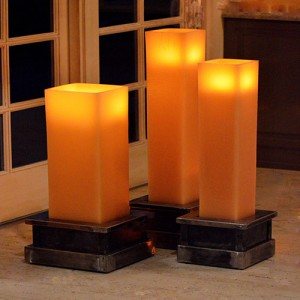 "Flameless LED Candles / Timer or Remote Control options (12"" wide by 24"" or 36"" or 44"" tall) (Holders sold separately)(Quantity discount 3 or more call)"