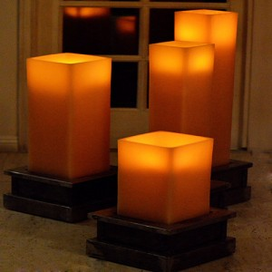 "Flameless LED Candles / Timer or Remote Control options (15"" wide by 24"" or 36"" or 44"" Tall) (Holders sold separately)(Quantity discount 3 or more call)"
