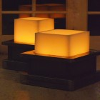 "Square 12.5 inches wide Heavy Iron Candle Holders for 8"" wide Large Candles (Candles sold separately)"