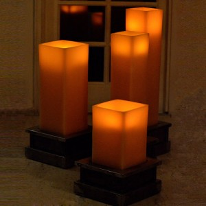 "Square 16 inches wide Heavy Iron Candle Holders for 10"" wide Extra Large Candles (Candles sold separately)"