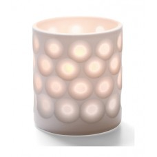 Porcelain Dots Votive Lamp White