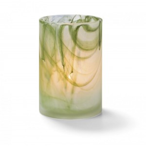 Glass Candle Holder - Green