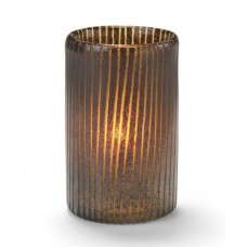 Glass Candle Holder - Mocha Cylinder