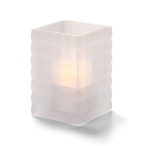 Glass Candle Holder - Crystal Horizontal Line Lamp