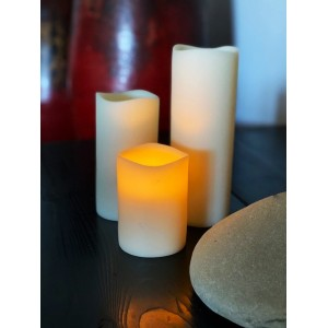 "Resin candle shells 3"" diameter by 4"", 6"" and 8"" tall"