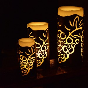 "Vineyard Iron Candle Holders & Candles, 8"" Diameter (Candle Included)(Quantity discount 6 or more call)"
