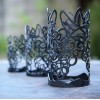 "Vineyard Iron Candle Holders & Candles, Positive 6"" Diameter (Candle Included)(Quantity discount 12 or more call)"