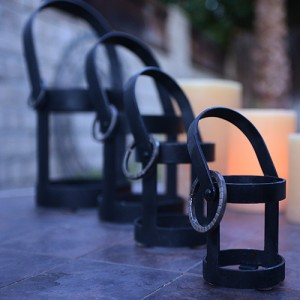 Designer Iron Candle Holders - Iron Lantern Holders Only (Candles not included)(Quantity discount 48 or more call)