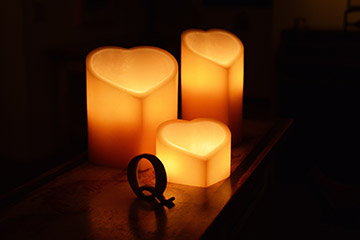 Heart Shaped Wax Candle Holders Picture Only