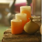 "Color Design Hollow Candles (All Color Options) (3"" Diameter)(Quantity discount 48 or more call)"