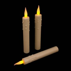 "5.5"" Mini Taper Candle Ultra Bright Realistic Flickering LED Press on Flame Switch"
