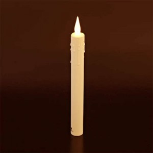 "Taper Candle 8"" and 10"" Ultra Bright Realistic Flickering LED Press on Flame Switch"