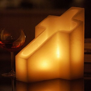 "Flameless LED Candles - Cross Shaped (7"" x 10.5"" x 12"" tall)"