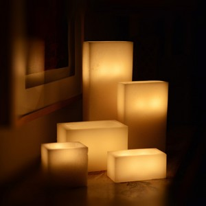 "Flameless LED Luminaries / Timer or Remote Control options (21"" by 4"" wide by 12"" or 15"" or 20"" or 24"" Tall)(Quantity discount 6 or more call)"