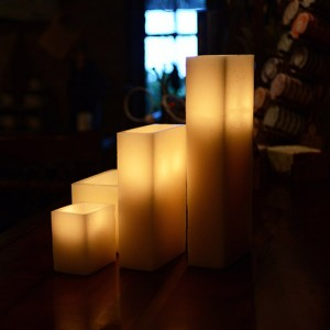 "Flameless LED Luminaries / Timer or Remote Control options (4"" by 2 1/2"" wide by 3"" or 4"" or 5 1/2"" Tall) as low as $9.45"