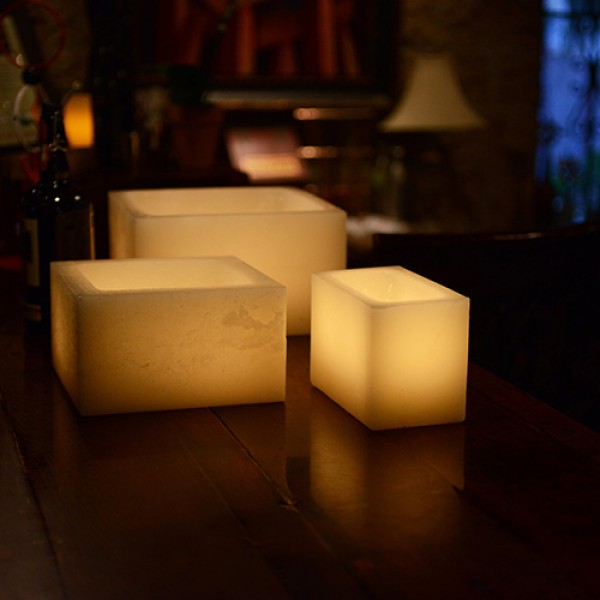 Flameless LED Luminaries / Timer or Remote Control options