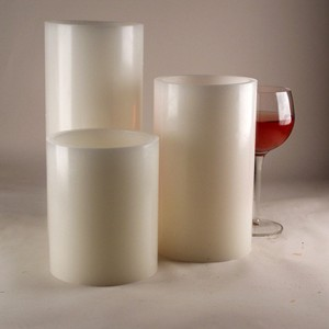 "Flameless LED Candles / Timer or Remote Control options (4"" diameter by 8.5"" or 10"" or 12"" Tall)(as low as $13.72)"