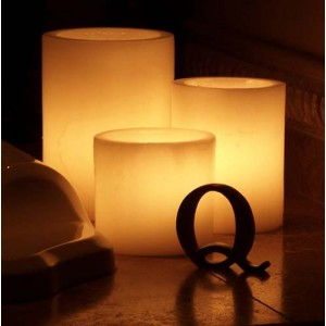 "Flameless LED Candles / Timer or Remote Control options (2.5"" diameter by 3"" or 4"" or 5.5"" Tall) as low as $3.81"